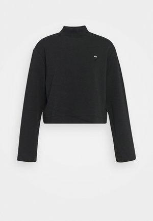 SOLID HYBRID LONGSLEEVE - Long sleeved top - black