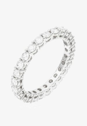 WHITE GOLD RING 9K CERTIFIED 25 DIAMONDS HSI 1.45 CT - Ring - silver