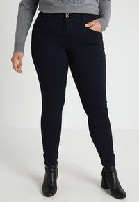 ONLY Carmakoma - CARANNA ANK - Jeans Skinny Fit - dark blue denim - 0