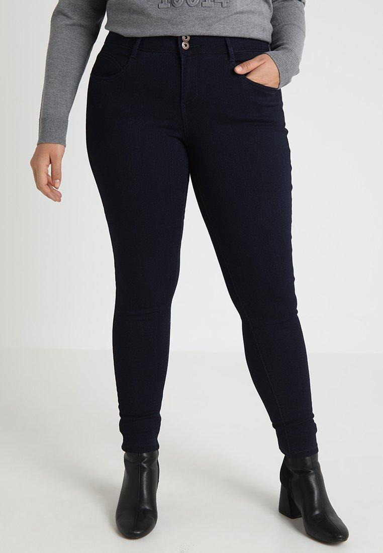 ONLY Carmakoma - CARANNA ANK - Jeans Skinny Fit - dark blue denim