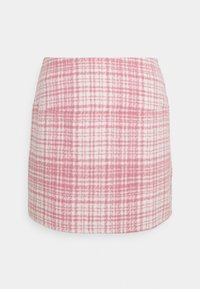 Missguided Petite - BRUSHED CHECK MINI SKIRT - Mini skirt - pink - 4