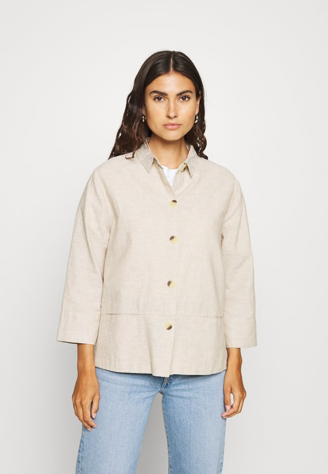 SHIA - Button-down blouse - sand melange