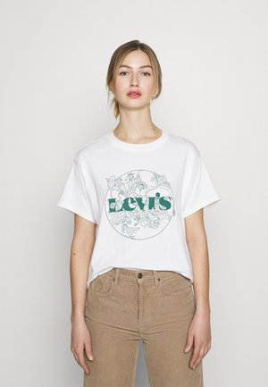 GRAPHIC VARSITY TEE - T-shirt imprimé - white