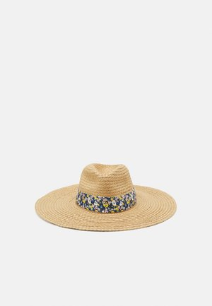 Hat - beige/dark blue