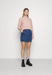 Noisy May - Mini skirt - medium blue denim - 1