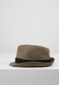 Burton Menswear London - 3 COLOUR TWIST TRILBY - Hat - tan - 2