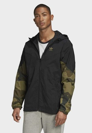 CAMOUFLAGE WINDBREAKER - Summer jacket - black