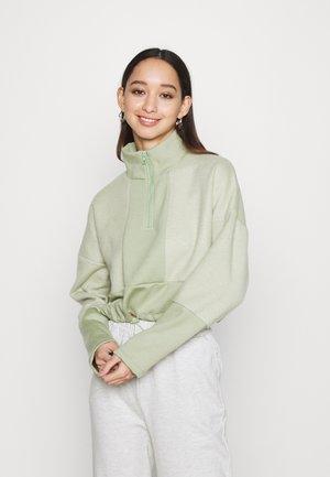 PANEL FUNNEL - Sweatshirt - sage