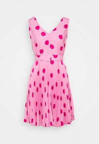 CLOSET V-NECK PLEATED DRESS - Day dress - pink