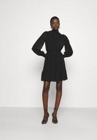 MICHAEL Michael Kors - SWISS DOT SMOCKED DRESS - Denní šaty - black - 1