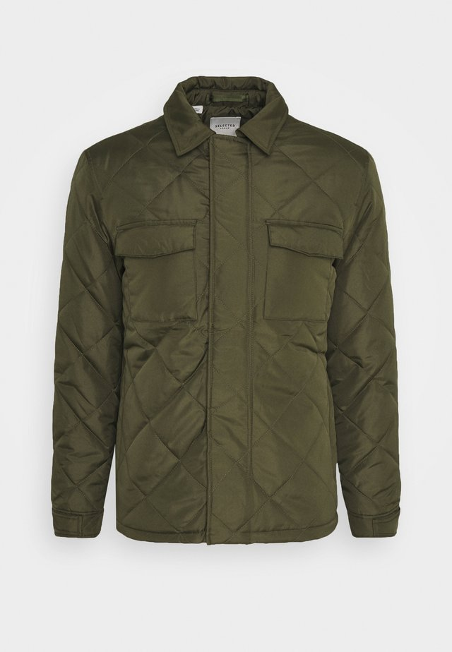 SLHARVEY QUILTED - Light jacket - winter moss
