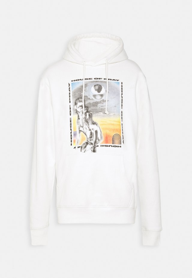 ARTIFICIAL PRINT HOODIE UNISEX  - Jersey con capucha - white