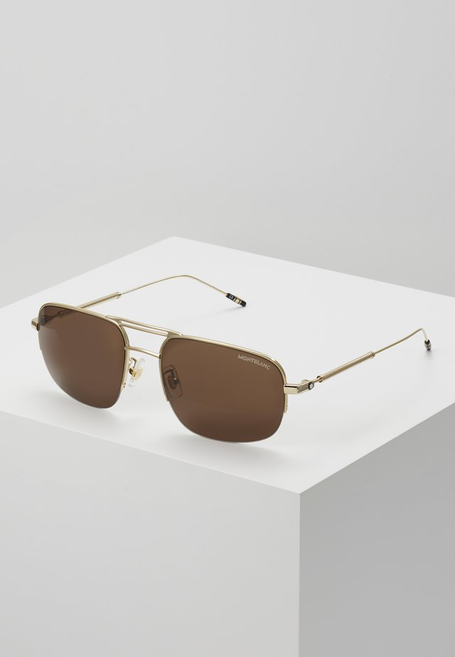 Sunglasses - gold/gold/brown