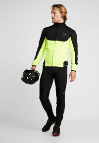 Gore Wear - THERMO TRAIL - Fleece jacket - black/neon yellow - 1