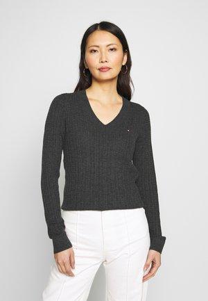 INJ MINI CABLE  - Sweter - dark grey heather