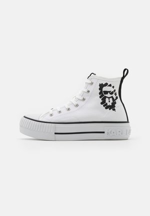 KAMPUS MAX IKONIC STENCIL MID - High-top trainers - white