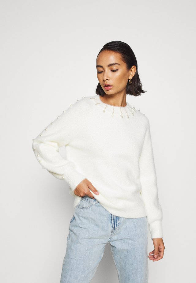 PEARLY - Pullover - cream