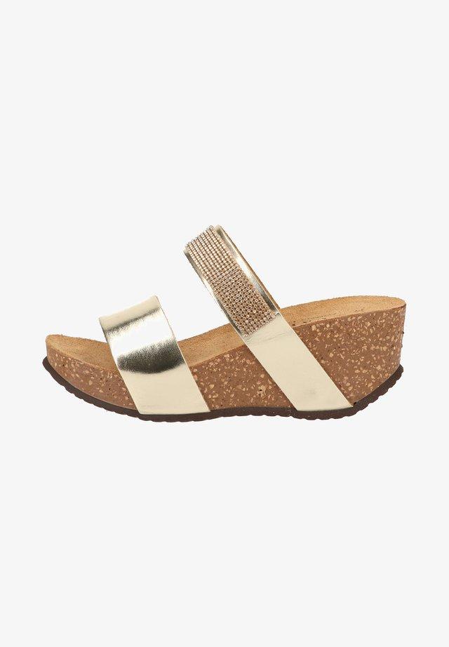 Wedge sandals - platin