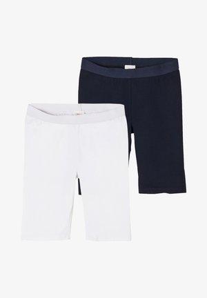 2 PACK - Shorts - white/navy