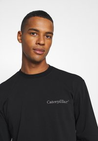 Caterpillar - BASIC EMBROIDERY CATERPILLAR  - Maglietta a manica lunga - black - 3
