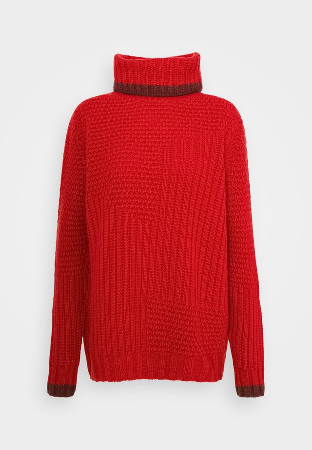 Strickpullover - cranberry