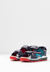 Geox - BOY - Walking sandals - navy/red - 3