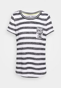 comma casual identity - Print T-shirt - black - 3