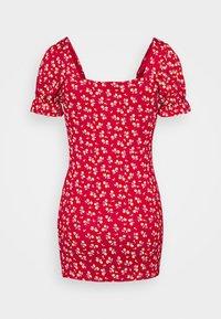Missguided Petite - DITSY FRILL DRESS - Žerzejové šaty - red - 1