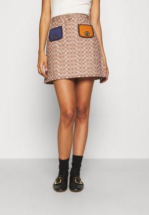 Mini skirt - camel