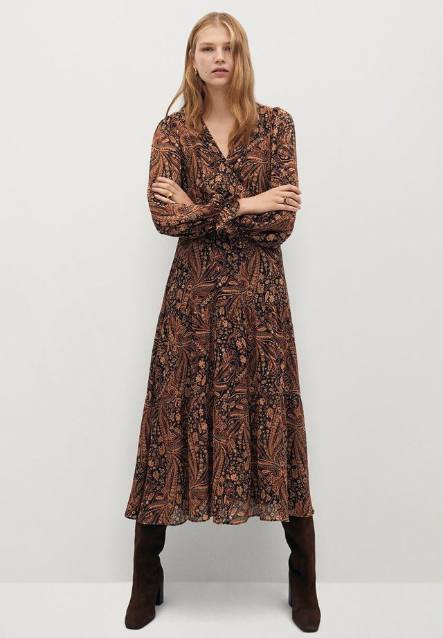 OSLO - Day dress - marrón