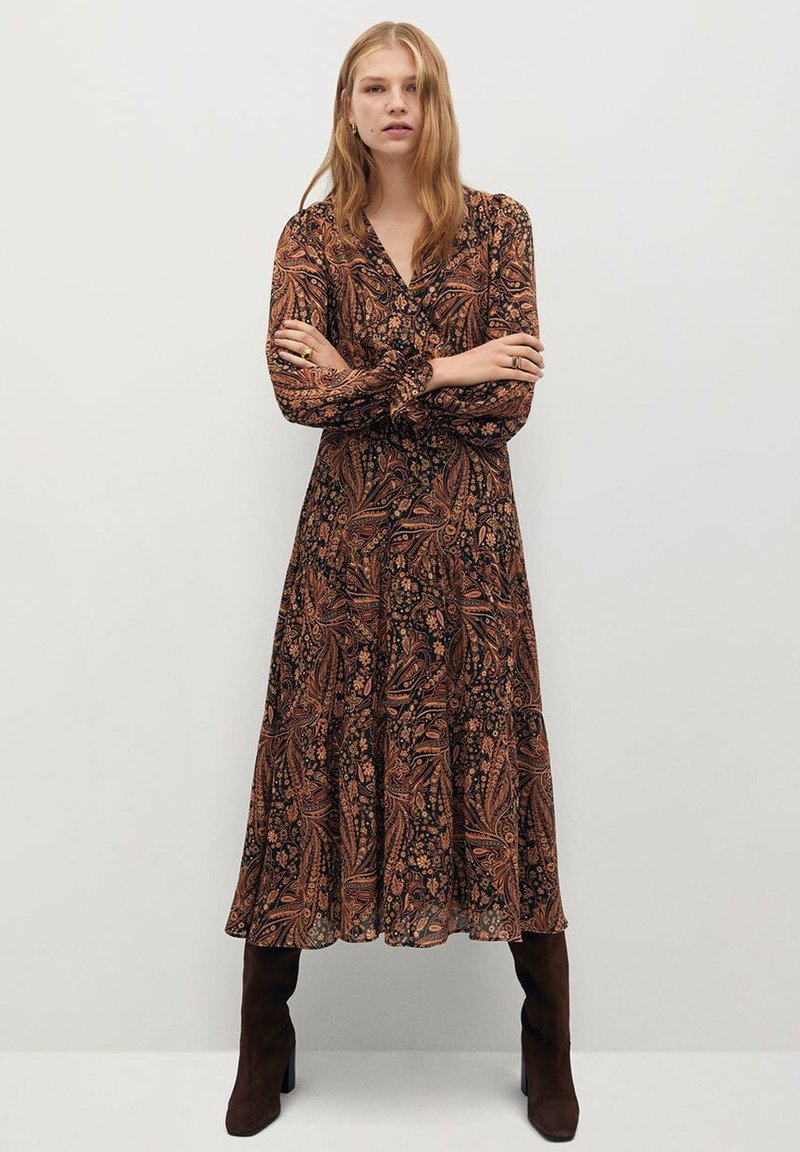 Mango - OSLO - Day dress - marrón