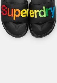 Superdry - RAINBOW FLATFORM SLIDE - Mules - black - 5