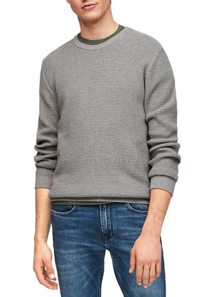 MIT MUSTERSTRUKTUR - Jumper - light grey