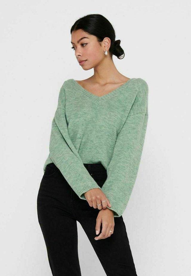 Sweter - granite green