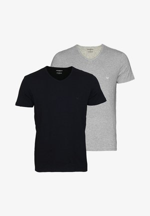 2 PACK  - Basic T-shirt - black grey