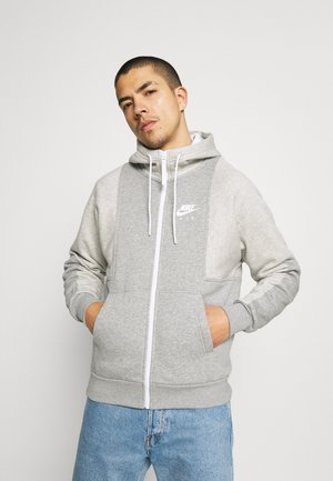 AIR HOODIE - Zip-up sweatshirt - grey heather/grey heather/white