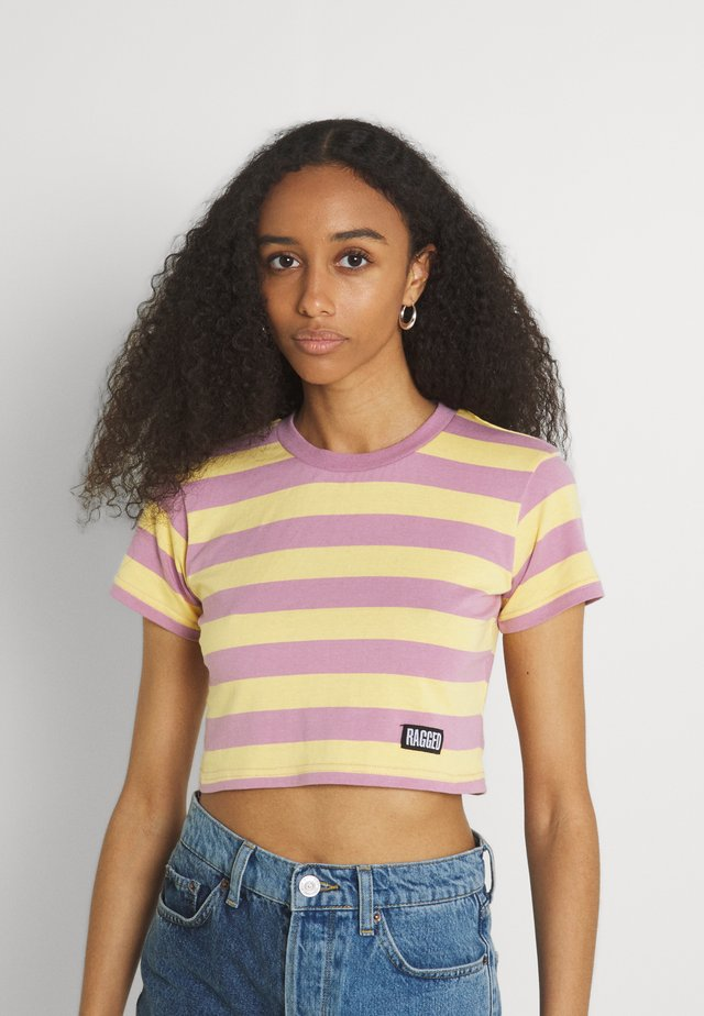REFRESH TEE - T-shirt print - yellow/lilac