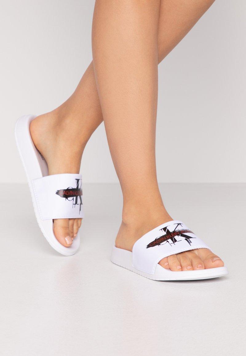 Calvin Klein Jeans - CASSIOPEA - Mules - white