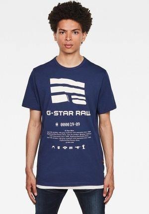 GRAPHIC LOGO - Print T-shirt - imperial blue