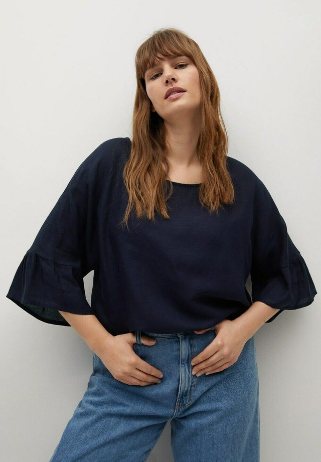 Blouse - marineblau