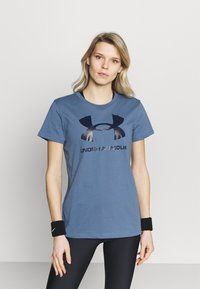 Under Armour - LIVE SPORTSTYLE GRAPHIC - Print T-shirt - mineral blue - 0