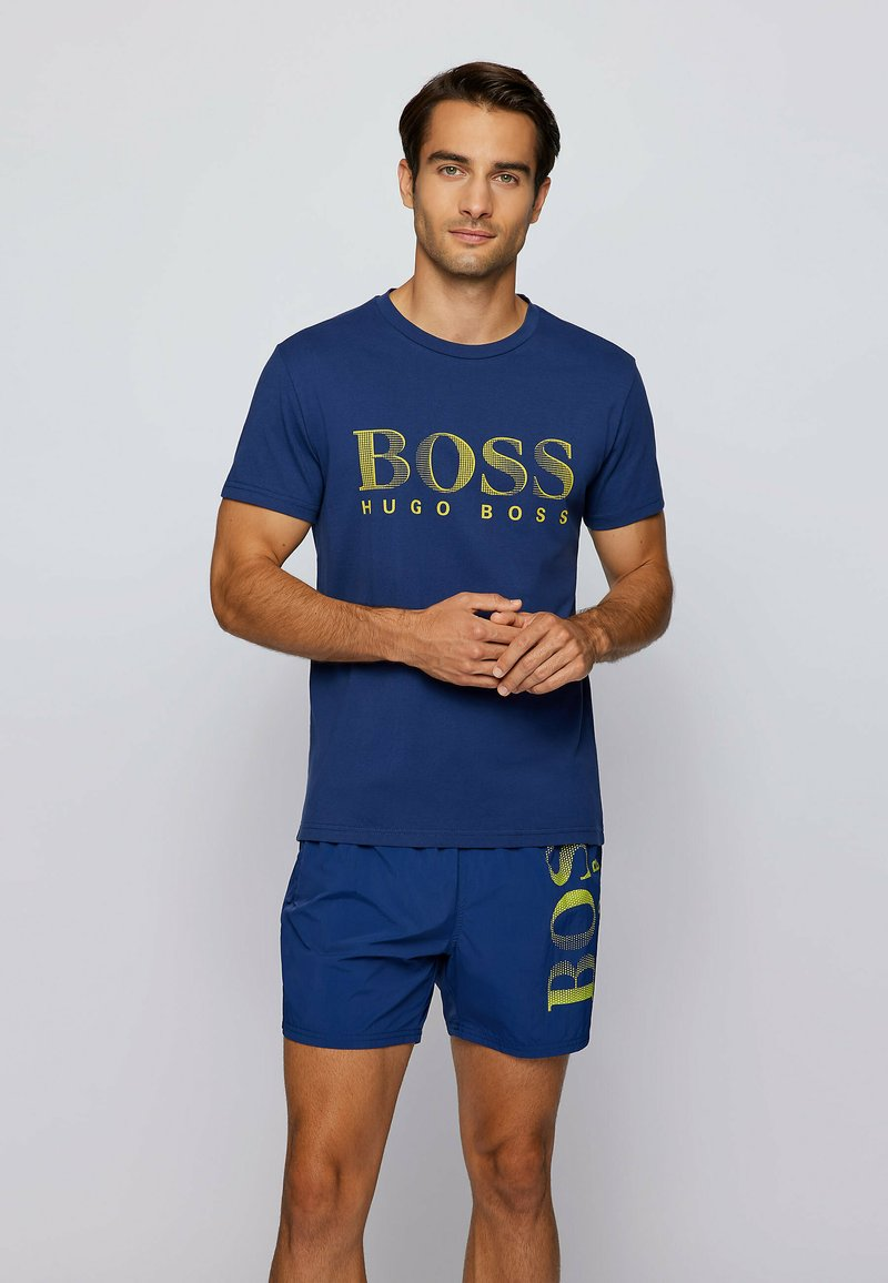 BOSS - RN - Print T-shirt - dark blue