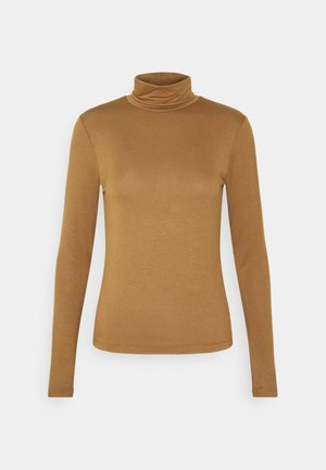 ONLLELA LIFE ROLLNECK - Long sleeved top - toasted coconut
