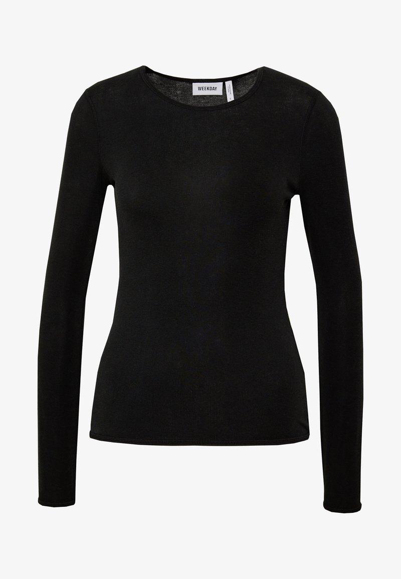 Weekday TERESA LONG SLEEVE - Langarmshirt - black/schwarz Yc73so