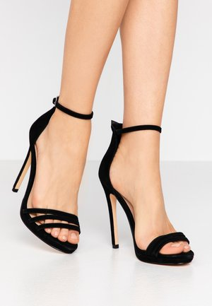 LEATHER - High Heel Sandalette - black