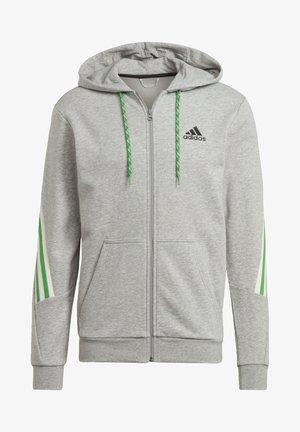 ADIDAS SPORTSWEAR 3-STRIPES TAPE FULL-ZIP SWEATSHIRT - Zip-up sweatshirt - grey