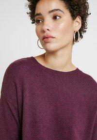 GAP - V-SHIFT DRESS - Strickkleid - plum heather - 4