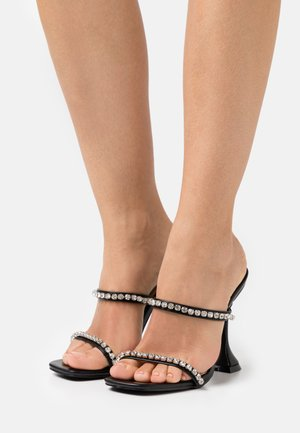 MAHIRA - Heeled mules - black