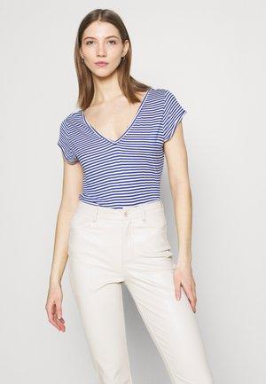 Basic T-shirt - mazarine blue/optical snow