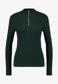 New Look - ZIP - Langærmede T-shirts - dark green - 4